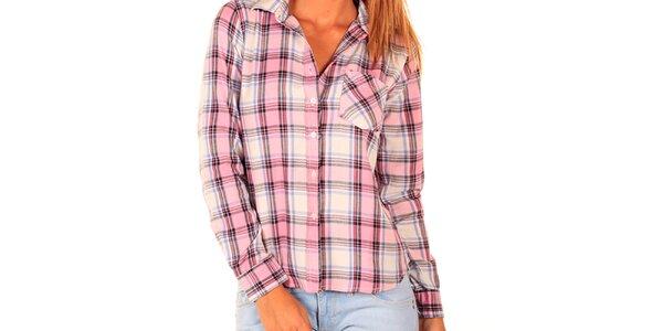 Dámská růžově kostkovaná košile New Caro