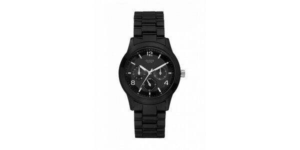 Lehké polykarbonátové černé hodinky
