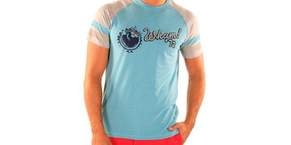 Pánské světle modré tričko New Caro