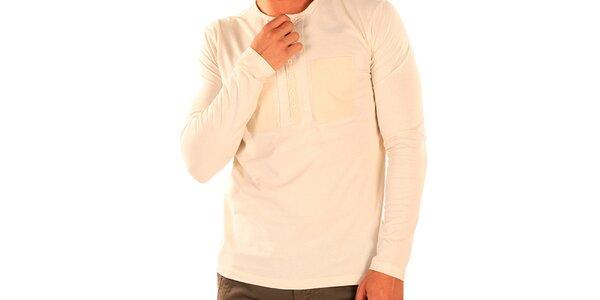 Pánské triko s dlouhým rukávem a rozpínacím výstřihem New Caro