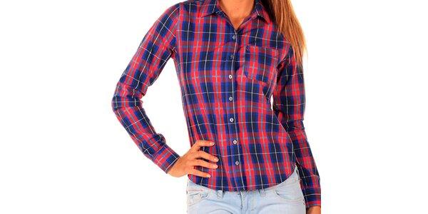 Dámská červenomodře kostkovaná košile New Caro