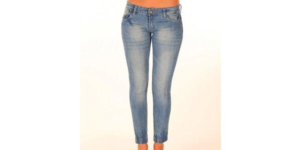 Dámské světle modré džíny se švy New Caro