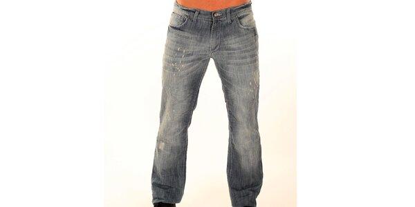 Pánské šedé džíny s fiktivními trhlinami New Caro