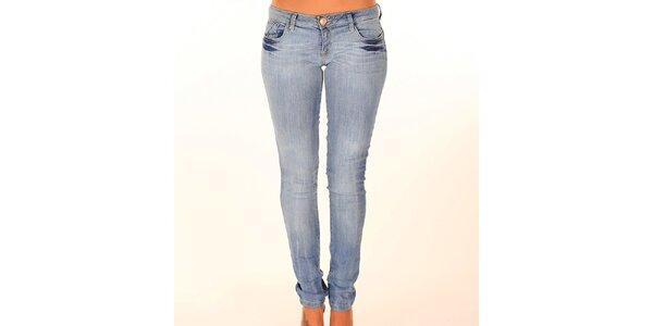 Dámské světle modré bokové džíny New Caro