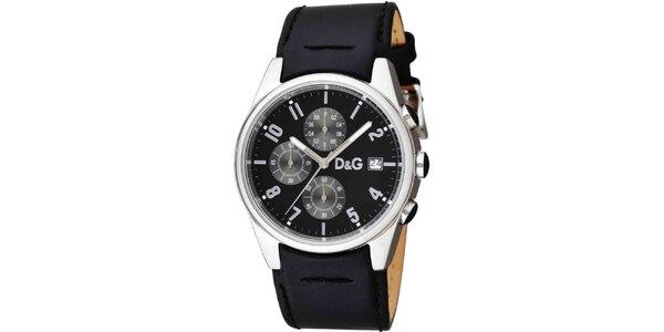 Pánské hodinky z nerezové oceli s koženým páskem Dolce & Gabbana