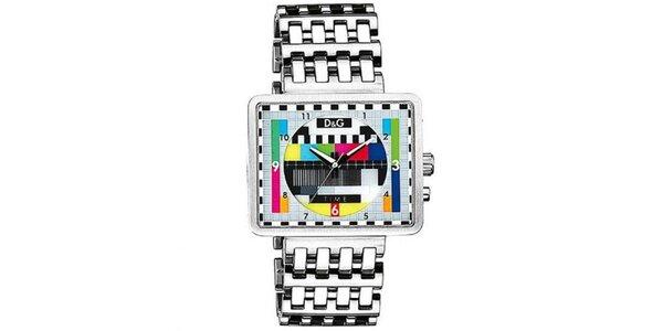 Pánské hodinky v televizním retro stylu Dolce & Gabbana