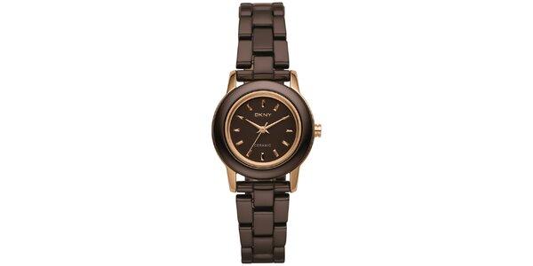 Dámské hnědé hodinky DKNY
