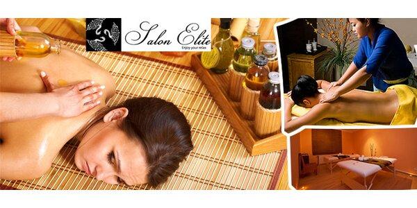 Jedinečná aroma olejová masáž se speciálními exklusivními aroma oleji