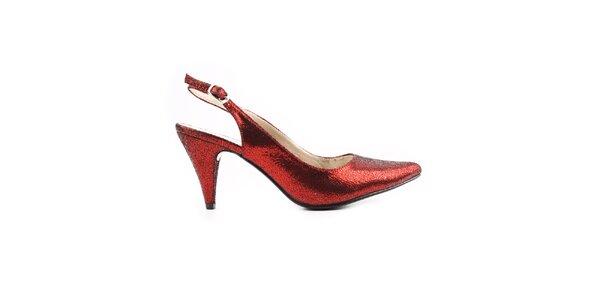 Dámské červené páskové boty Paolo Santini