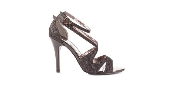 Dámské černé sandálky Spot On