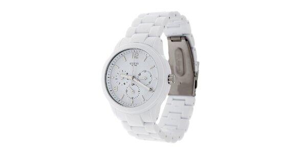 Dámské bílé náramkové hodinky Guess