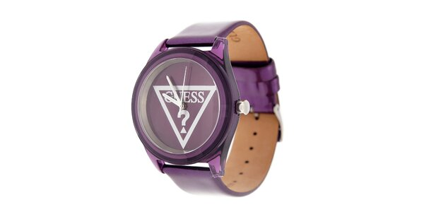 Dámské purpurové hodinky Guess