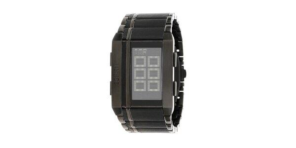Unisexové černé digitální hodinky Esprit
