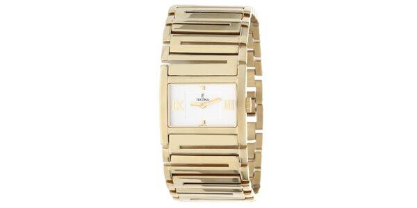 Dámské hodinky ve zlaté barvě Festina