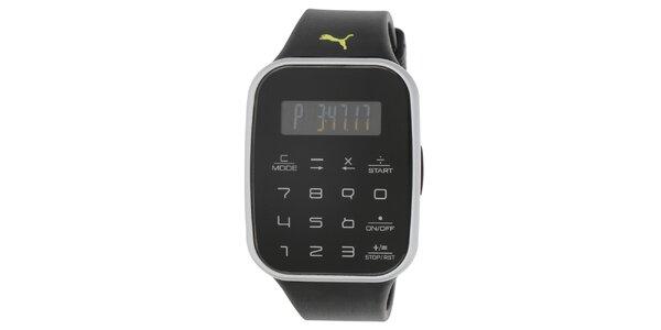 Pánské digitální hodinky s černým řemínkem Puma