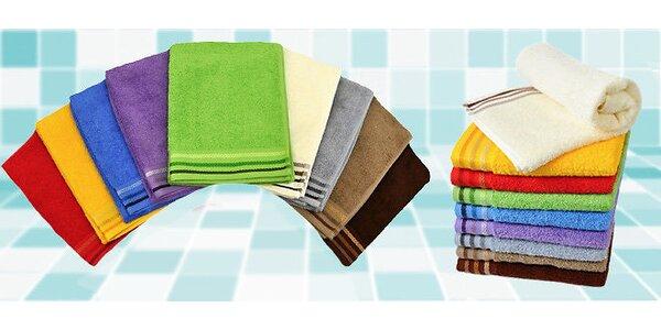 2 luxusní ručníky a 2 osušky v moderních barvách