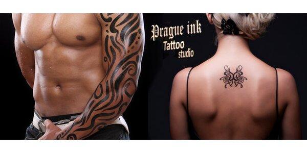 Tetování do 10×10 cm v renomovaném studiu