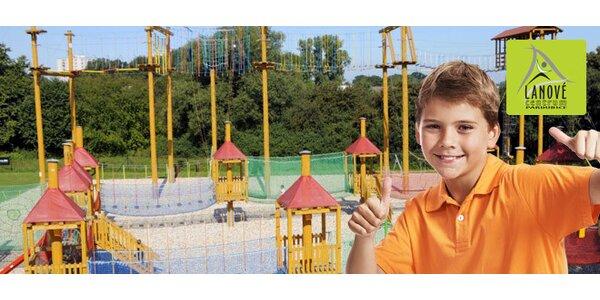 DVA dětské 2hodinové vstupy do lanového centra
