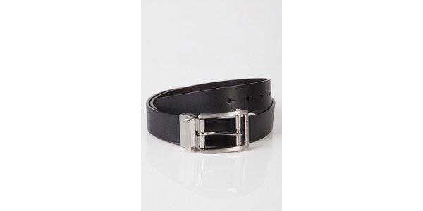 Pánský černý kožený pásek Calvin Klein