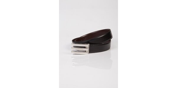 Pánský černo-hnědý oboustranný kožený pásek Calvin Klein