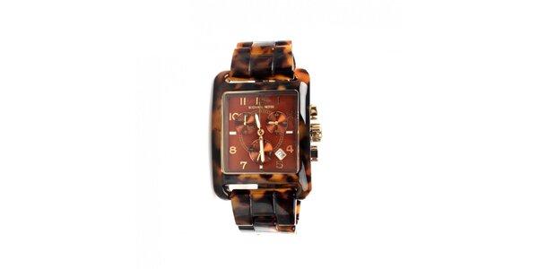 Dámské retro hodinky žíhané Michael Kors