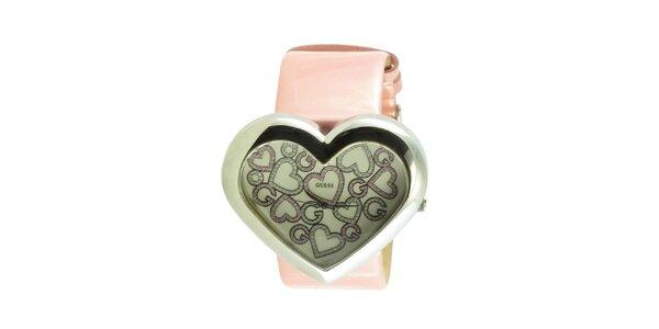 Dámské náramkové hodinky Guess ve tvaru srdce