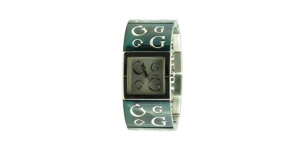 Dámské tmavě zelené náramkové hodinky Guess