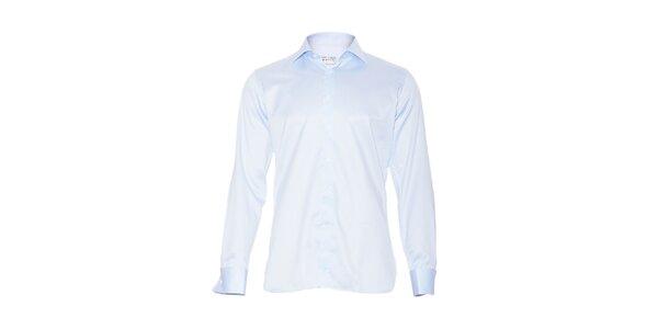 Pánská slim-fit košile na manžetové knoflíčky Vincenzo Boretti v ledově modré…