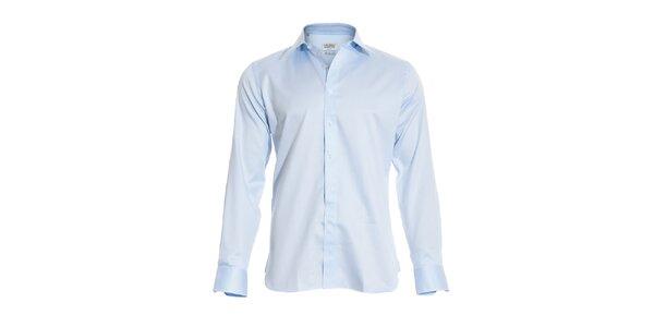 Pánská slim-fit košile Vincenzo Boretti v ledově modré barvě
