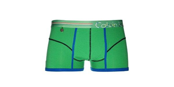 Pánské veselé zelené boxerky Calvin Klein