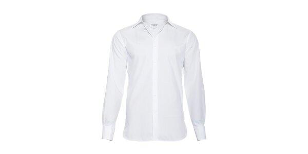 Pánská slim-fit košile na manžetové knoflíčky Vincenzo Boretti v bílé barvě