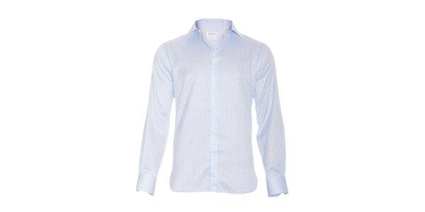 Pánská slim-fit košile Vincenzo Boretti v bílé barvě se světle modrými…