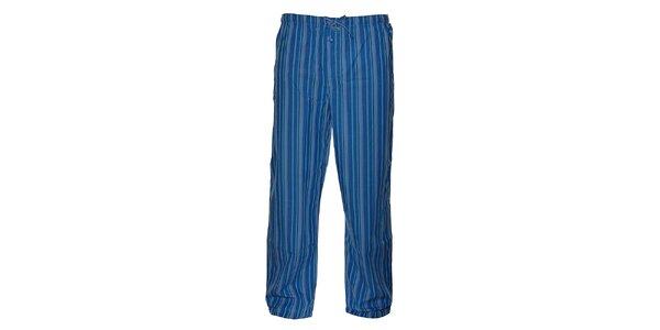 Pánské tmavě modré proužkované pyžamové kalhoty Calvin Klein