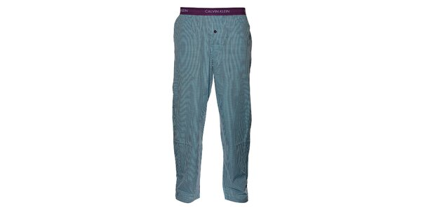 Pánské světe modré kostičkované pyžamové kalhoty Calvin Klein