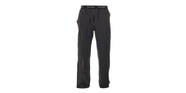 Pruhované černé pánské kalhoty Calvin Klein