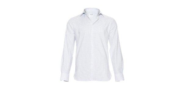 Pánská slim-fit košile Vincenzo Boretti v bílé barvě s jemnými tmavě modrými…