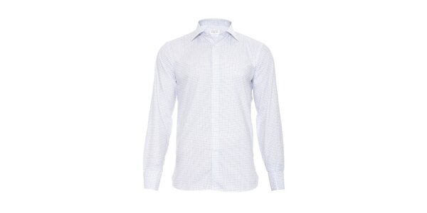 Pánská slim-fit košile na manžetové knoflíčky Vincenzo Boretti v bílé barvě s…