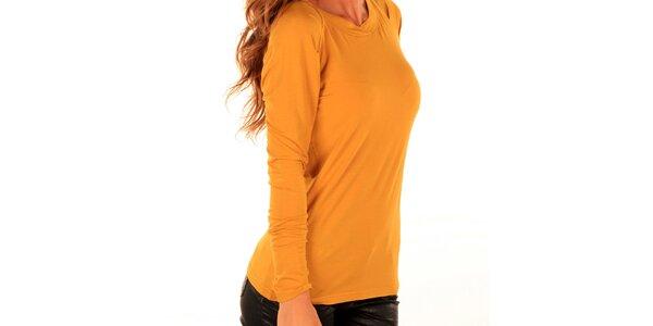 Dámské žluté tričko s dlouhým rukávem Trussardi