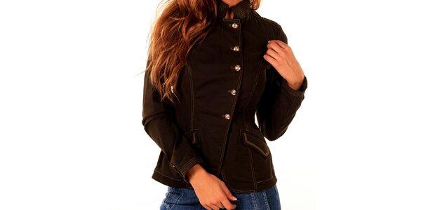 Dámský hnědý kabátek Trussardi