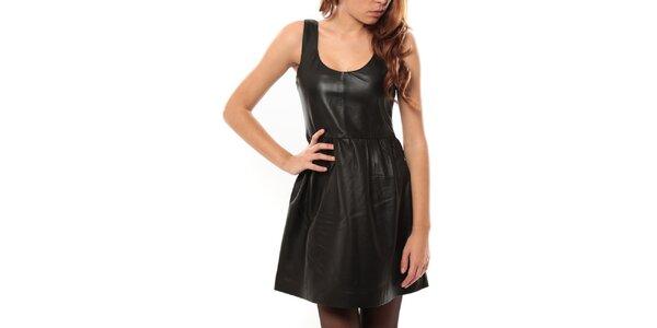 Dámské černé kožené šaty My Little Poesy