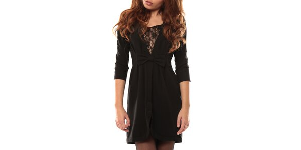 Dámské černé šaty s mašlí My Little Poesy