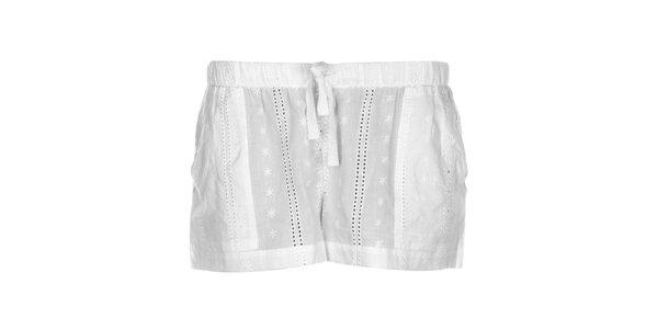 Dámské krajkové kraťásky DKNY v bílé barvě