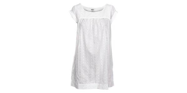 Dámská bílá košilka DKNY s výšivkou