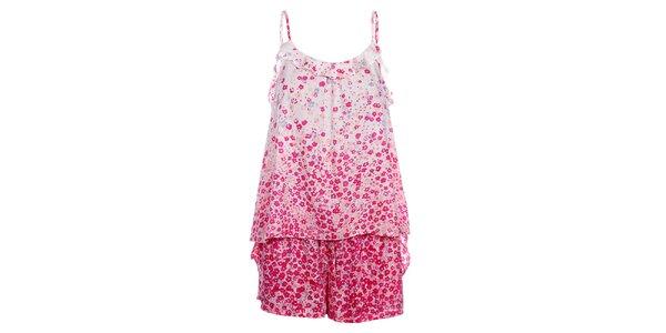 Dámské růžové pyžamo DKNY s potiskem