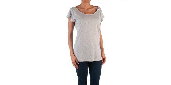 Dámské šedé tričko s knoflíky Womens Secret