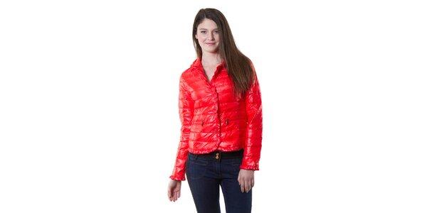 Dámská červená lesklá bunda Yes!Miss