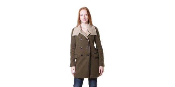 Dámský vojensky zelený kabát Yes!Miss