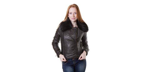 Dámská černá bunda Yes!Miss v motorkářském stylu