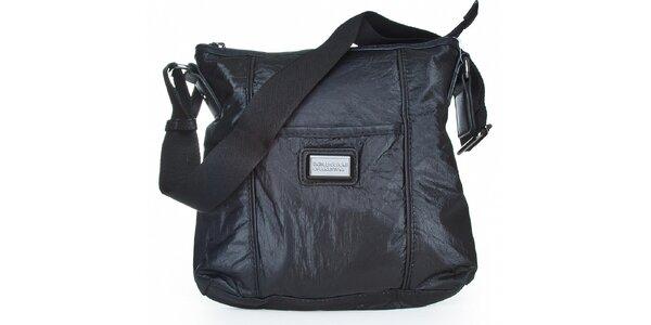 Dámská černá nylonová kabelka Benetton