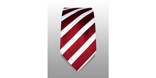 Vínovobílá proužkovaná kravata značky Vincenzo Boretti